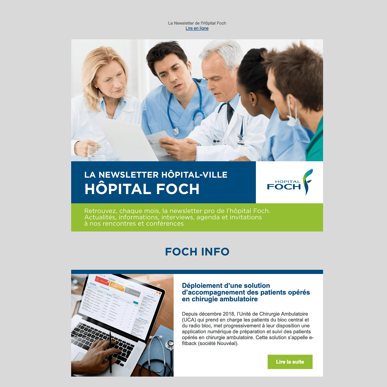 Hopital Foch Newsletter 2